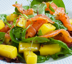 Mango Salad with Smoked Salmon Recipe